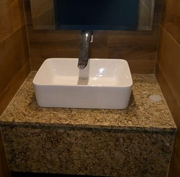 base para lavabo de granito