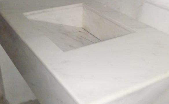 Barra para Lavabo Cuarzo Blanco