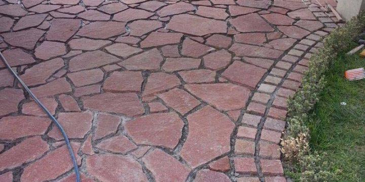 Instalacion de Piedra de Pasillo Exterior